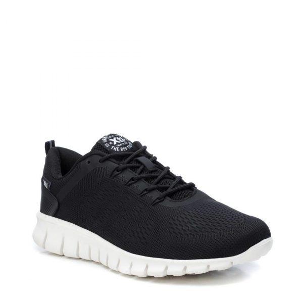 Xti – Sneakers sportive in Tessuto elastico nero