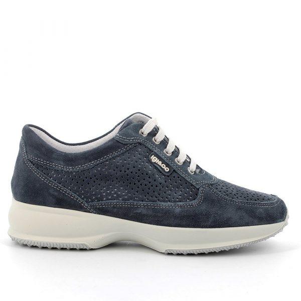IGI&CO – Sneakers in scamosciato blu traforato