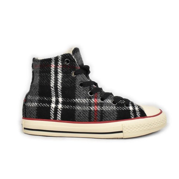 Converse – Sneakers in Plaid con interno lana