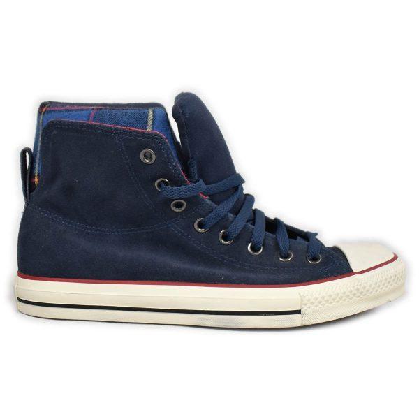 Converse – Sneakers con doppio collo in scamosciato blu
