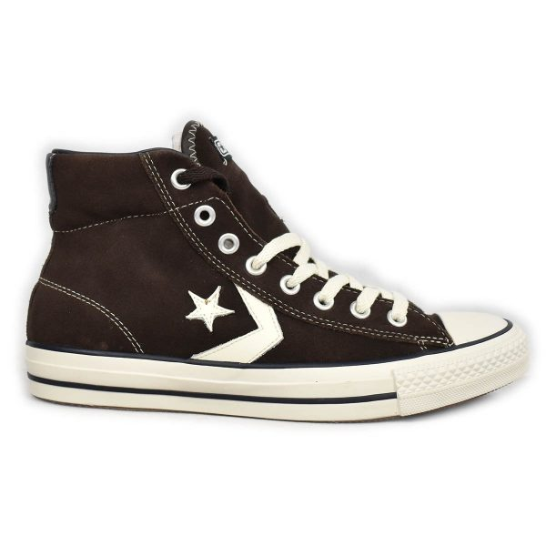 Converse – Sneakers alta in scamosciato Marrone