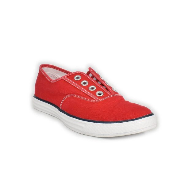 Converse – Sneakers Slip-On bassa in rosso