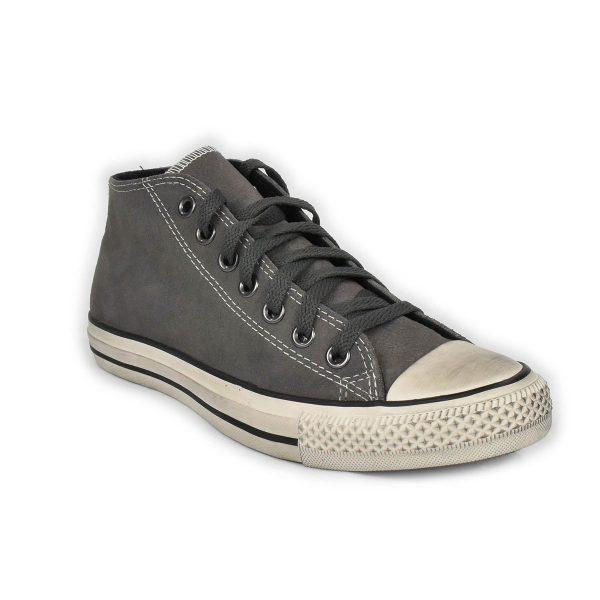 Converse – Sneakers collo medio in scamosciato Grigio