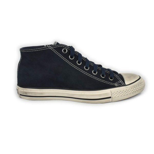 Converse – Sneakers collo medio in scamosciato Blu