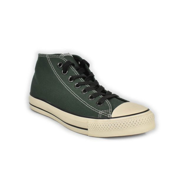 Converse – Sneakers verde con collo medio