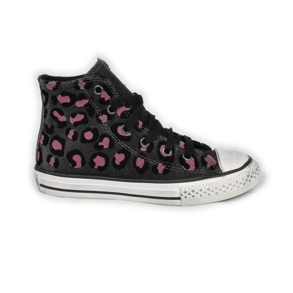 Converse – Sneakers da bambina nera maculata