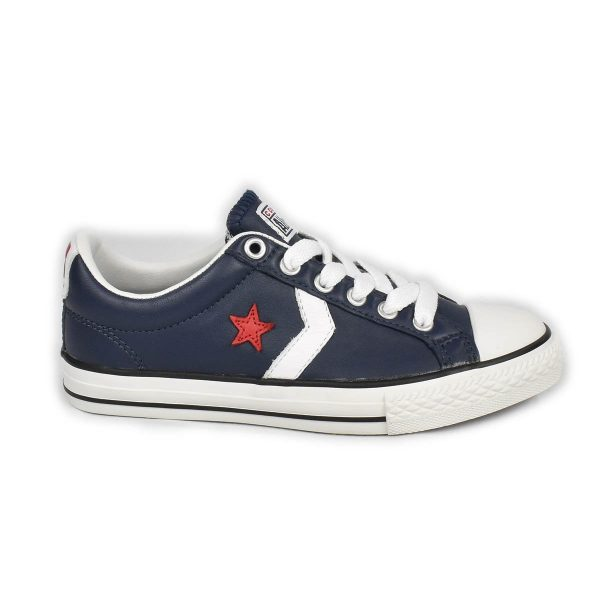 Converse – Sneakers bassa Bimbo in pelle blu