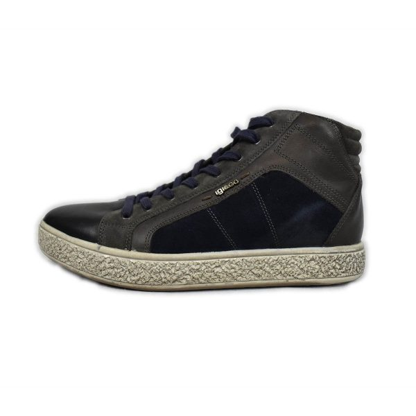IGI&CO – Sneakers in tessuti misti blu nero e marrone
