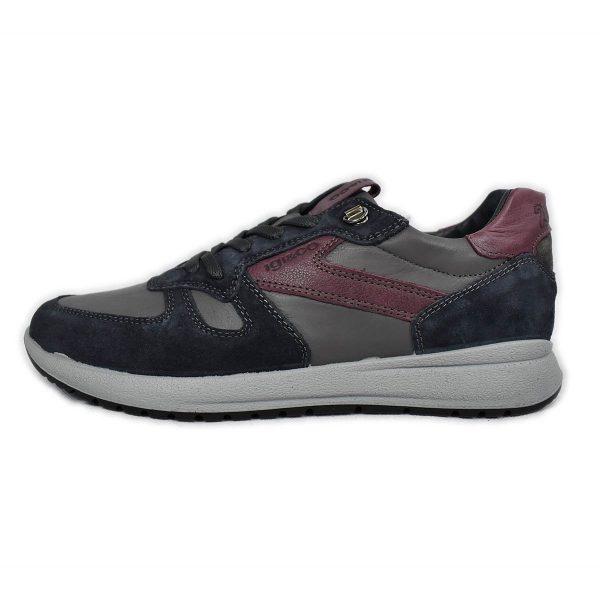 IGI&CO – Sneakers in misto pelle e scamosciato blu e grigio
