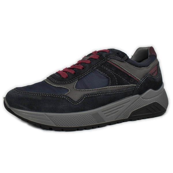 IGI&CO – Sneakers in scamosciato e pelle blu con plantare memoryfoam