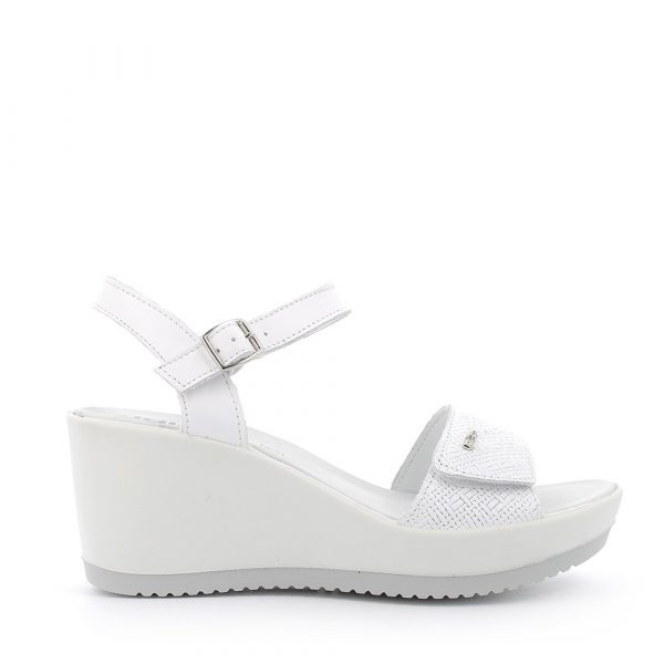IGI&CO – Sandali bianchi con zeppa