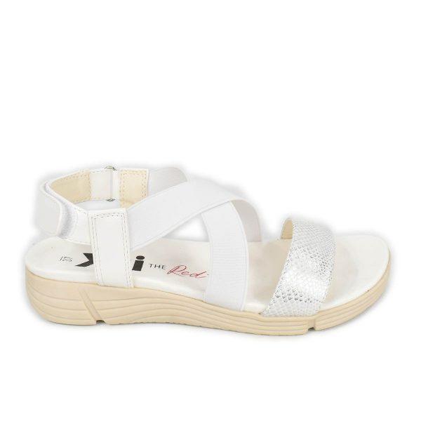 Xti – Sandali bianchi elasticizzati con chiusura a strappo