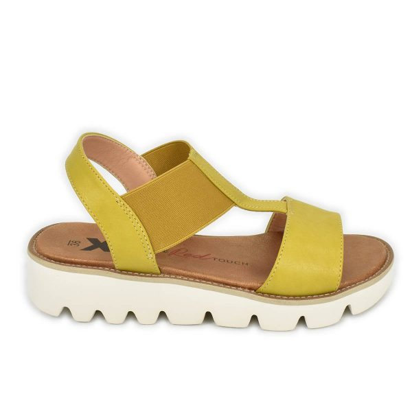 Xti – Sandali gialli elasticizzati con fondo morbido