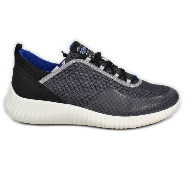 IGI&CO – Sneakers sportiva in nabuk  e tessuto tecnico nero e grigio