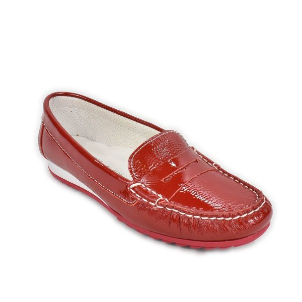 Enval Soft  – Mocassino in pelle rosso lucido