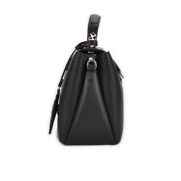 Bauletto nero con dettaglio in cavallino maculato – CafèNoir BBZ105