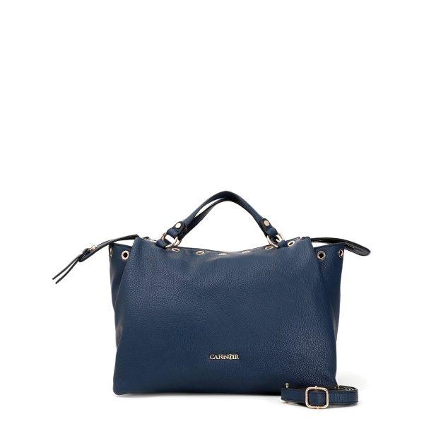 Borsa a sacca blu con occhielli – CafèNoir BGZ115