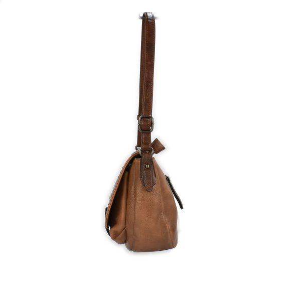 Borsa bandoliera marrone con borchiette – XTI 86356