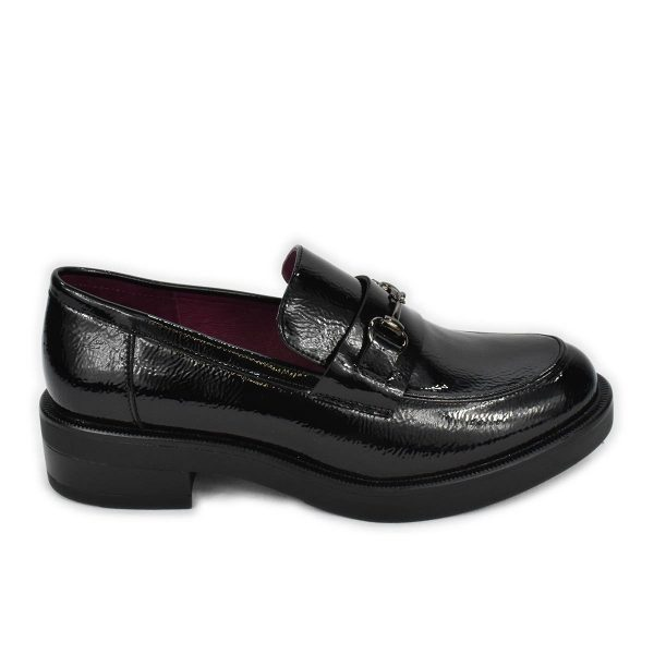 Mocassino slipon in vernice nera – CafèNoir FEA923