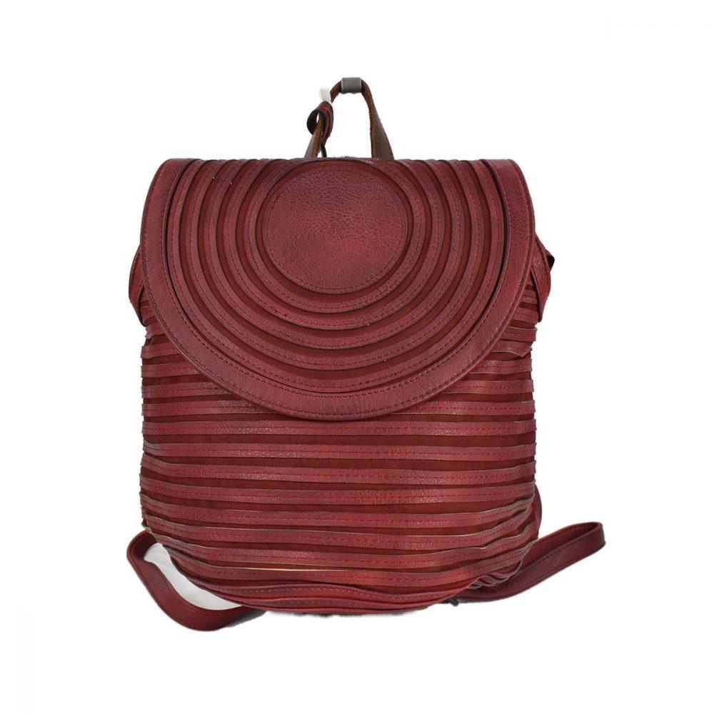 Zaino rosso bordeaux con lavorazione a strisce - XTI 86382