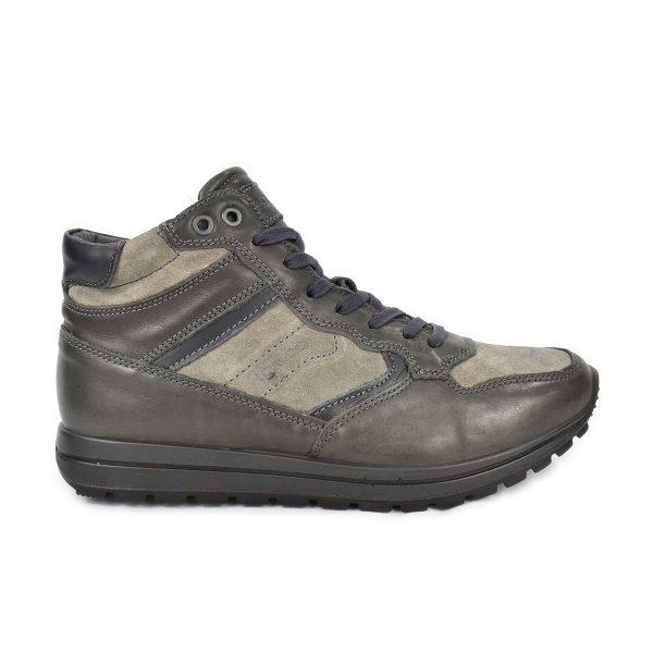 Scarponcino in pelle e scamosciato grigio – IGI&CO 2136511