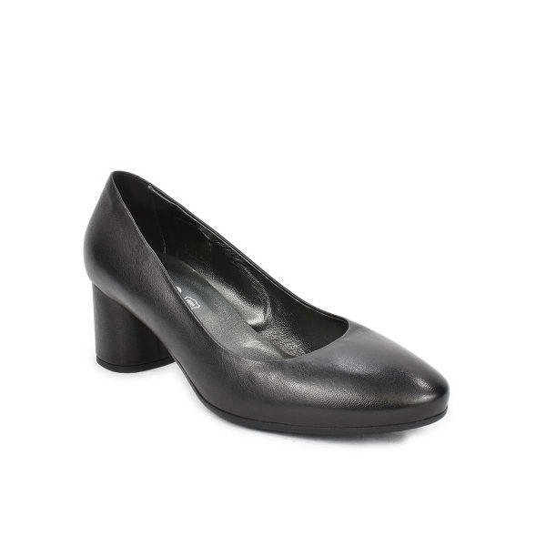 Scarpa con tacco medio in pelle nera – IGI&CO 4185000