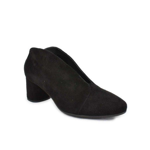 Scarpa con tacco medio scamosciata nera – IGI&CO 4185311